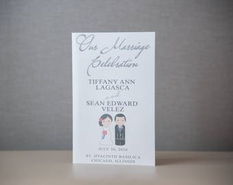 WEDDING PROGRAM - PRINTED