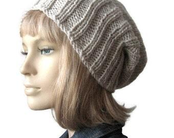 Hand Knit Hat, The Alex Hat, Watchman Cap Slouchy Hat, Vegan Knits, Mens Fisherman Hat, Womens Hat, Mens Beanies