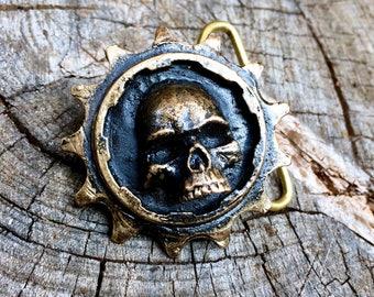 Chainring Skull Belt Buckle