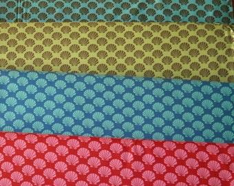 OOP Odyssea -4 FQ Set- Shells-Momo-Coral Red-Ocean Blue-Green-Blue Brown-