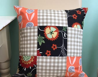 Patchwork cushion - patchwork pillow cover