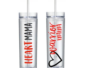 Heart Mama Tumbler, Heart Warrior Mama Cup, Heart Mom, CHD Awareness, Zipper Club Member, Open Heart Surgery, Heart Defect HLHS PAIVS