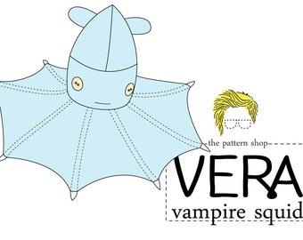 Vera Vampire Squid Stuffed Animal Sewing Pattern