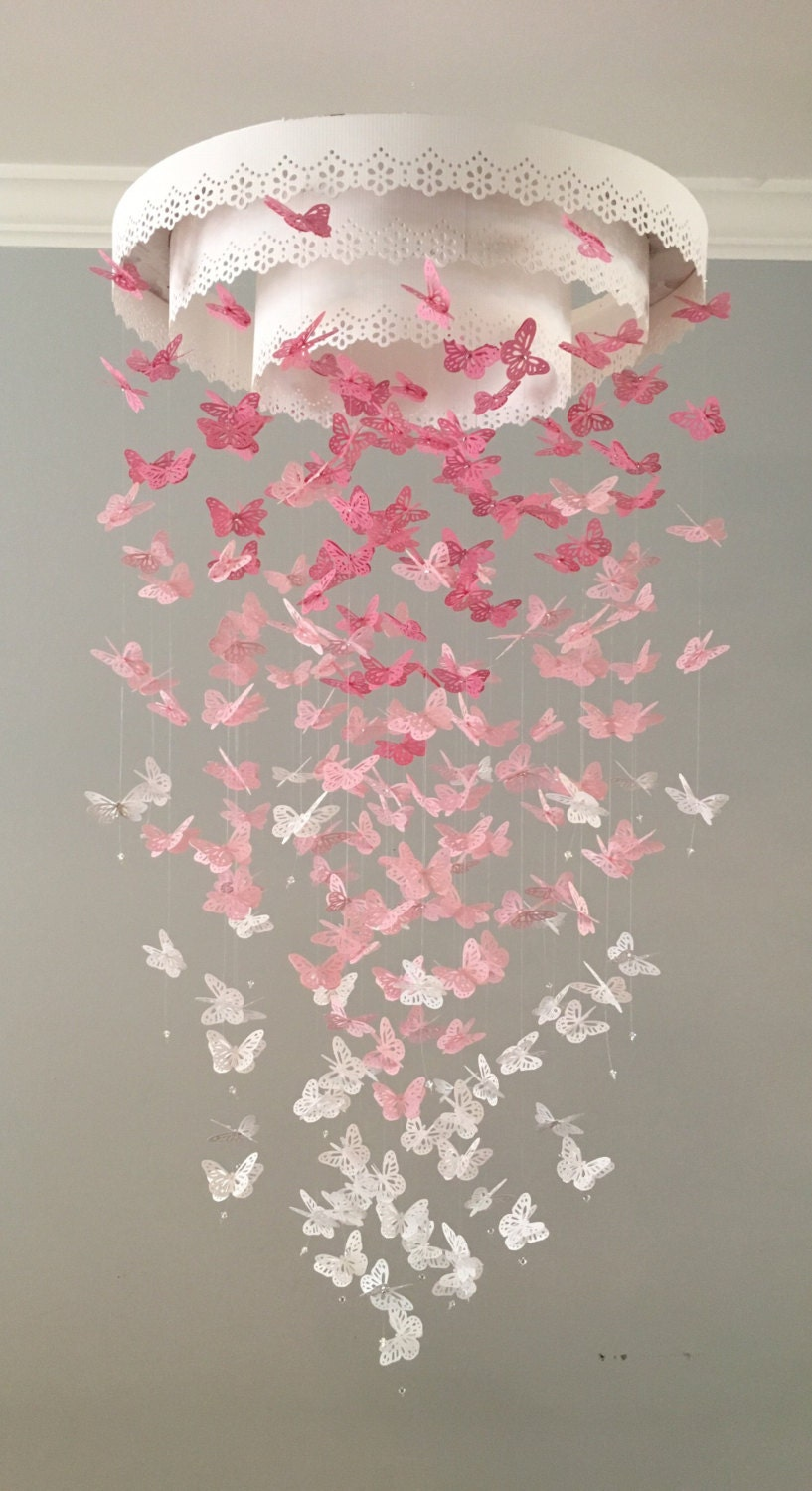 The original paper lace chandelier monarch butterfly mobile zoom aloadofball Image collections
