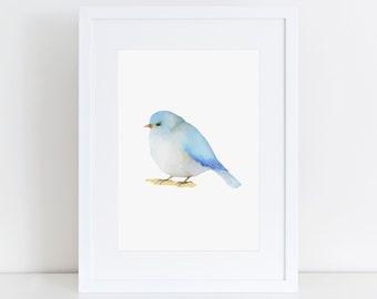Bird Print, Watercolour Bird Print, Printable Art, Gift Ideas, Nursery Art, Watercolor Art, Bird Illustration Print, Minimalist, Home Decor