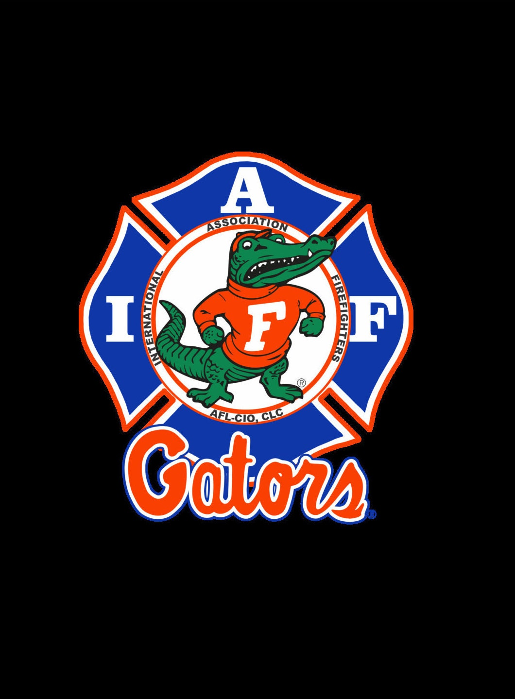 IAFF Florida Gators Car Decal for Union Firefighters Free