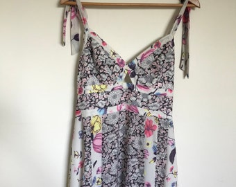 Womens Floral Multi-Coloured Patterned Maxi Dress