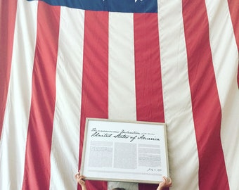 """Declaration of Independence- Print 18x24"""""""