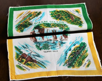 Guam Souvenir Handkerchiefs, Set of 2, Guam Hankie, Guam Souvenir, Travel Memento, Gift for Traveler