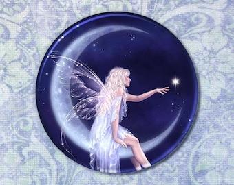 Geburt von einem Mond Sterne Fairy-Taschenspiegel