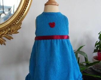 """Dress blue """"Catharina"""" Blue 6/9 months"""