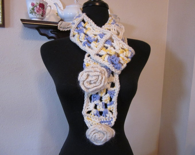 Boho Scarf with Roses