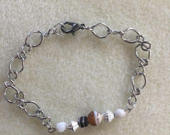 Brown and Multi Beaded Bracelet
