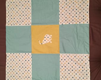 Plaid fleece baby blanket
