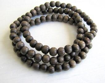 Wood Bracelet Stack Graywood Wood Bracelet Boho Bracelet Boho Jewelry Yoga Bracelet Jewelry Earthy Jewelry Small Wood Stretch Bracelet