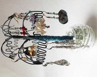 Earring Holder / Jewelry Tree / Earring Rack / Jewelry Holder / Jewelry Rack / Jewellery Holder / Jewelry Organizer /  Yellow Palm Tree