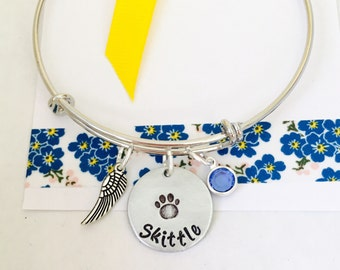 Remembrance Pet Bracelet, Pet Memorial Jewelry, Pet Remembrance Gift, Pet Loss Gift, Dog Bracelet