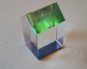 Crystal prism, house shaped, rainbow effect