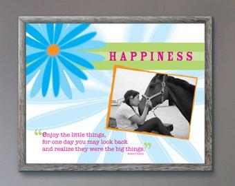 Art Print - Happiness // Personalized 11x14 Art Print // Custom Photo Print // Wall Art