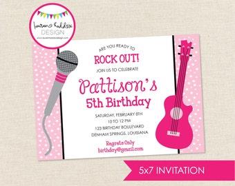 Rock Star Birthday Invitation, Rock Star Birthday, Rock Star Printables, Rock Star Birthday Decorations, Lauren Haddox Designs