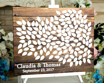 Rustic Guest book Guest Book Signature Tree Canvas Guest Book Canvas Guestbook Canvas Wedding Canvas Bridal shower Gift Wedding Tree