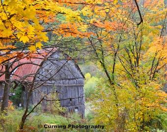 barn in the fall photograph