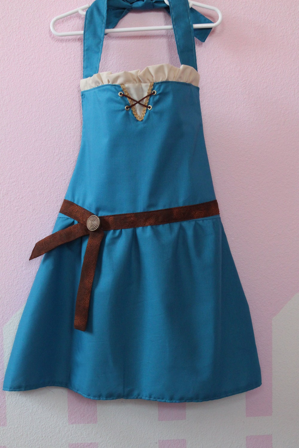 Brave Merida inspired dress up apron princess party