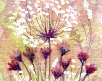 Original Watercolour ACEO Painting 'Meadow Series No. 4'