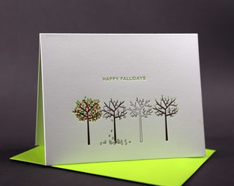 Happy Fallidays Letterpress Card