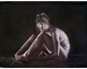 HYPERMOBILITY: FAE  (art print by Mandem) - Figure Painting - disability / disabled / EDS / cripplepunk art