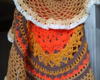 Hand Crocheted Bohemian style Vest