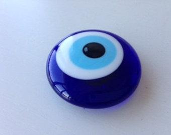 Evil eye magnet - Handmade glass evil eye bead magnet - Turkish evil eye - Nazar boncuk