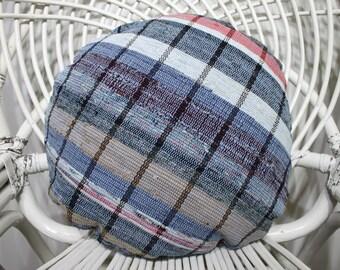 Blue Color Out Door Pillow Cover Sofa Pillow Circle Pillow 16x16 Kilim Pillow Round Pillow Overdyed Kilim Pillow Turkish Kilim Pillow 79