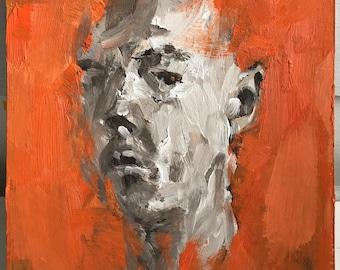 Memories of Orange, original oil painting on greyboard, by Sasha Mihajlovic