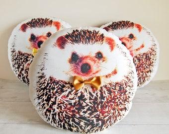 Hedgehog pillow, Cute hedgehog gifts, Hedgehog stuffed animal, Woodland gift, Woodland nursery gift, Hedgehog plush, Mothers day gift, GOLD