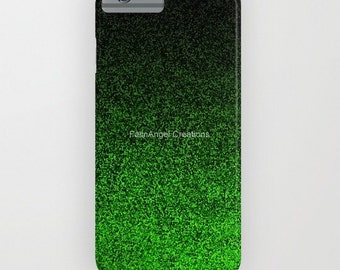 Green and Black Glit Gradient Phone Case 18 Styles Available! - iPhone, iPod, and Samsung Galaxy!