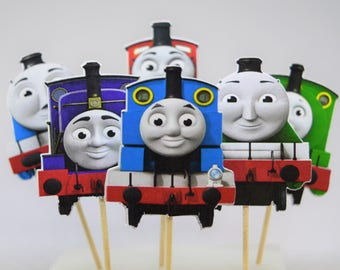 Thomas The Train and friends  Cupcake  Cupcake Toppers-Birthday Party- Die Cuts- Set of 12