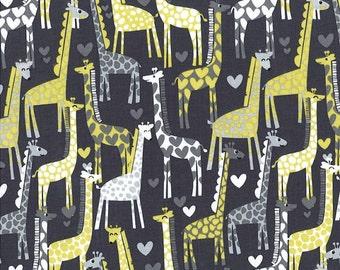 Michael Miller Fabric Giraffe Love Gray, Choose your cut