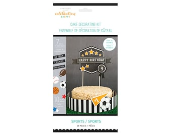 Sports Party Cake Decorating Kit with Topper by Kim Byers Celebration Shoppe - Party Decorations and Supplies