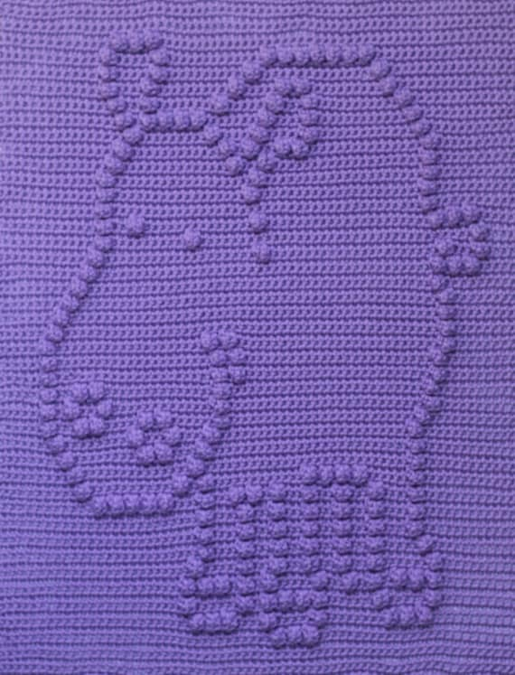 Happy Hippo Baby Blanket  Pattern  - Baby Snuggle Blanket - Carseat or Stroller Blanket