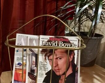 Midcentury Modern Brass Magazine Holder