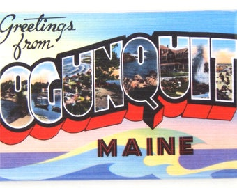 Greetings from Ogunquit Maine Fridge Magnet