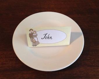 Thanksgiving decor dinner printable place cards menu cards PDF