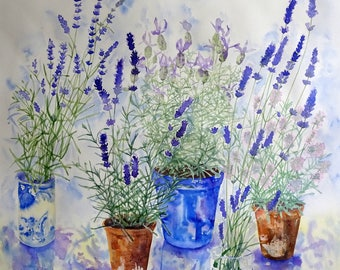 Lavender Collection. Limited edition artist signed giclee print on archival paper.