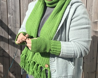 Spring Collection - scarf & wrist warmer combo