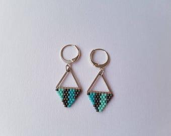 Earrings dangle fancy multicolored