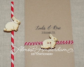 Bunny Decorations or Bunny Embellishments or Bunny Cutouts for Invitations and Stationery