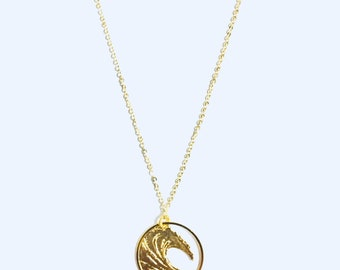 Ocean Wave Gold Necklace
