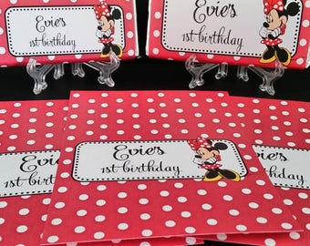 Personalised Chocolate Wrappers x 8 DIY (wrappers only)