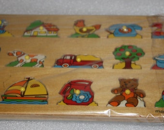 Acre toys made in Holland    wood toy vintage preschool puzzle wooden puzzle preschool educational toy wooden toy wooden puzzle